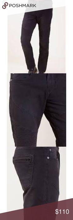 a48170db0a2 Black True Religion Moto Jeans Moto Jeans True Religion Jeans Slim