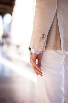 Boggi hopsack blazer // Olga shirt // Richmond white denim