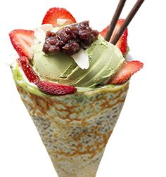 ... , red beans, matcha custard cream, whipped yogurt, matcha