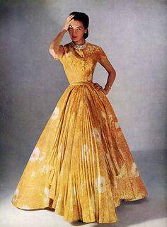 1952, surprisingly modest gown.