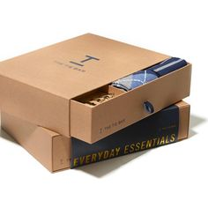 The Essentials Box Navy Gift Set Tie Gift Box, The Essential, Essentials, Navy, Gifts, Presents, Gifs, Gift