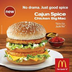 Cajun Spice Chicken Big Mac at McDonald's Arabia #McDonalds #BigMac #Chicken #Cajun #McDonaldsArabia