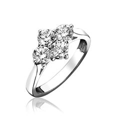 Claw 4 stone diamond cluster ring - Clus Diamond Cluster Ring, Diamond Rings, Engagement Rings, Jewels, Stones, Jewellery, Natural, Amazing, Enagement Rings