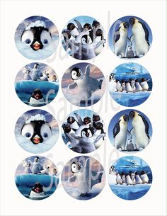"Happy Feet 2.25"" Circle Stickers-12pcs, cut & peel"
