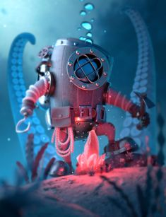 Underwater Miner by Tonelli Vincent