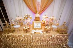Gold and pink parties - royal birthday! | CatchMyParty.com