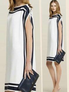 Vestido Preto e Branco Boho Outfits, Dress Outfits, Fashion Dresses, Simple Dresses, Short Dresses, Dresses For Work, Kaftan Pattern, Ethiopian Dress, Frock Patterns