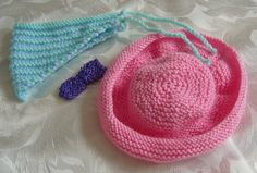 FREE: Ravelry: AMERICAN GIRL DOLL BOW,HAT, HEADSCARF & BAG pattern by Jacqueline Gibb