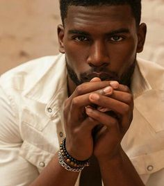 but you're not Broderick Hunter sexy 😍 photo credit Fine Black Men, Handsome Black Men, My Black Is Beautiful, Fine Men, Gorgeous Men, Dark Man, Broderick Hunter, Dark Skin Men, Chocolate Men