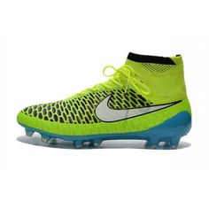 promo code acc3e 7d747 Nike Magista Obra FG Mens Firm-Ground Soccer Cleats Volt White Blue Lagoon  Black