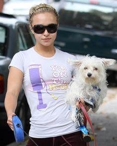 Hayden Panettiere mit ihrem Hund
