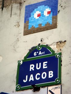 Space Invaders mosaic street art started in Paris. We wondered and loved it long before it went worldwide. Are they in your city yet? http://en.wikipedia.org/wiki/Invader_(artist)
