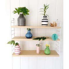 Botanical string shelf details from my livingroom