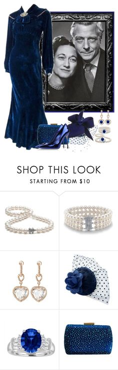 """Wallis Simpson"" by fashionrushs ❤ liked on Polyvore featuring Tiffany & Co., Blue Nile, Pepenero and Sergio Rossi"