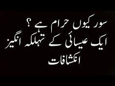 Pig  Sour, Khanzeer  Q Haram Hai   Ek Christian Doctor Ki Tahqeeq   سور ...