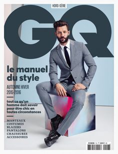 Buy a single copy or a subscription of GQ Style France Magazine from the world's largest online Magazine cafe store in USA. GQ Style France is the ultimate lifestyle magazine for urban men. Gq Style, Gq Mens Style, Mens Style Guide, Magazine Gq, Gq Magazine Covers, Magazine Cover Design, Jean Dujardin, Cover Male, Cover Boy