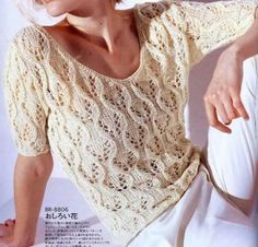 Irish lace, crochet, crochet patterns, clothing and decorations for the house, crocheted. Summer Knitting, Arm Knitting, Knitting Needles, Crochet Clothes, Pulls, Knit Crochet, Irish Crochet, Knitwear, Knitting Patterns