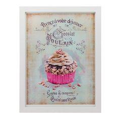Quadro Vintage Cupcake Polain - Col. Exclusiva