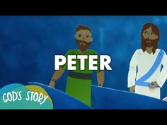 God's Story: Peter - about the author of 1 Peter. All ages. S Stories, Bible Stories, Stories For Kids, Simon Peter, 1 Peter, Jesus Return, Church Activities, School Fun, Sunday School