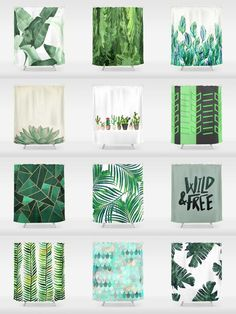 Green Shower Curtains - Add a bold statement to your bathroom with Shower Curtains. We also have bath mats and towels! Bathroom Spa, Bathroom Ideas, Bathroom Updates, Spanish Revival Home, Green Shower Curtains, Sims 4 Cc Furniture, Furniture Decor, Diy Home Decor, Room Decor