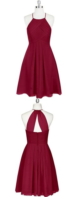2017 bridesmaid dress, short bridesmaid dress, burgundy bridesmaid dress, party dress