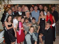Mum's 80th Hollywood Party at our house with Kids and several grandkids.