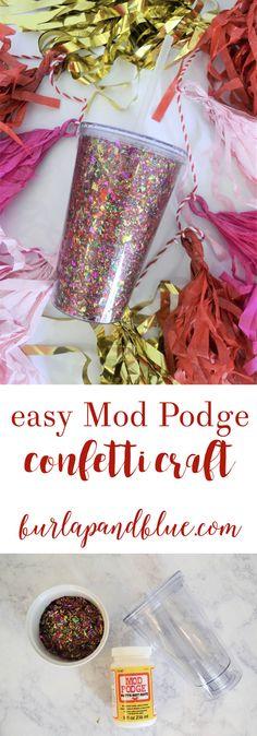 An easy confetti + M