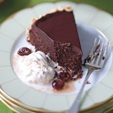 Flourless Chocolate Cake with Toasted Hazelnuts and Brandied Cherries Recipe