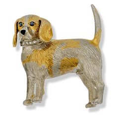 Dog Jewelry, Animal Jewelry, Fine Jewelry, Scully And Scully, Cat Pin, Beagle, Funny Dogs, Dog Lovers, Dog Cat