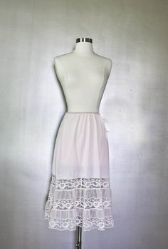 1950s Vintage Half Slip  Light Pink with by SalvatoCollection, $24.95