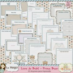 Miolo para impressão - Livro do Bebe menino Prince Bear