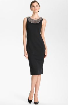 St. John Collection Beaded Milano Knit Dress available at Nordstrom