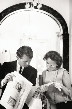 Robert and Ethel Kennedy in 1964