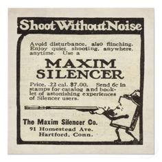 Shop Vintage Maxim Silencer ad from 1920 Poster created by VintageAds. Vintage Ephemera, Vintage Ads, Vintage Photos, 1920s Ads, Speakeasy Party, Magazine Ads, Monthly Magazine, Old Ads, Types Of Art