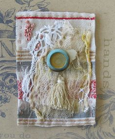Stitched and embroidered mini textile