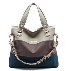 """HOT PRICES FROM ALI - Buy """"Luxury Retro zipper Women Handbag PU Leather Hobo Shoulder Splicing three colors PU mixing design casual Messenger Bags"""" from category """"Sports & Entertainment"""" for only USD. Leather Crossbody, Pu Leather, Designer Messenger Bags, Cute Handbags, Thing 1, Bago, Blue Bags, Cross Body Handbags, Purses And Bags"""