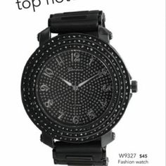 Black Silicone Men's Fashion Watch with Crystals from Southern Girls Boutique for $45.00 on Square Market