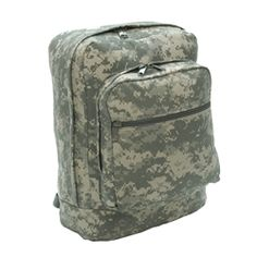 """ACU Utility Backpack    13"""" x 17"""" x 6""""    For more information visit www.militaryluggage.com"""