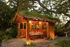 Open-air shelter.
