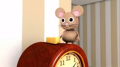 Hickory Dickory Dock - Listen to this nursery rhyme to help you learn the hours! Get ready to sing it as a class! Cartoon Songs, Baby Cartoon, New Nursery Rhymes, Rhymes For Babies, Rhymes Video, Hickory Dickory Dock, Educational Videos, Kids Songs, Little Babies
