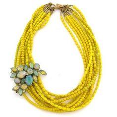 multi-strand necklace+brooch