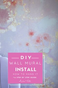 How to Install a Wall Mural: Spring 2020 One Room Challenge Week 2 Diy Home Interior, Interior Design, Painting Baseboards, Grey Wall Color, Painted Brick Walls, Picture Frame Molding, Challenge Week, Inspirational Artwork, Inspiration Wall