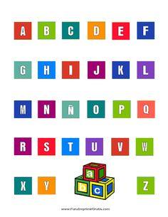 abecedario para imprimir | Abecedarios para imprimir y colorear Blog De Fotografias | Imagenes ...