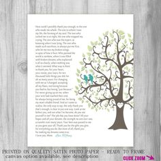 FROM DAUGHTER to Mom Personalized Gift Custom Print Heartfelt Poem ...