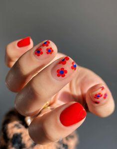 Cute Acrylic Nails, Cute Nails, Gel Nails, Cute Summer Nails, Spring Nails, Coffin Nails, Minimalist Nails, Nail Swag, Hippie Nails