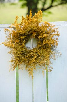 Gold caspia wreath fall wreath gold wreath by TheBlaithinBlairShop, $39.95