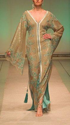 Moroccan Caftan (love the tassels) African Fashion Dresses, African Dress, Indian Fashion, Fashion Outfits, 2000s Fashion, Fashion Black, Modest Fashion, Korean Fashion, Moda India