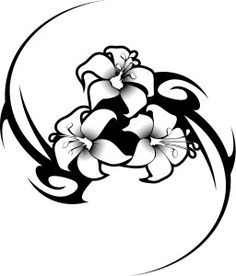 working sheet of a hibiscus flower tattoo tribal design working sheet of a hibiscus flower tattoo