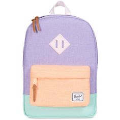 Herschel Kids-girls Heritage Nylon Backpack ($67) ❤ liked on Polyvore featuring multi