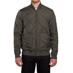 BARON QUILTED FLIGHT JACKET // OLIVE DRAB
